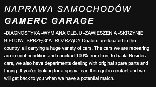 NAPRAWA SAMOCHODOW GAMERC PL
